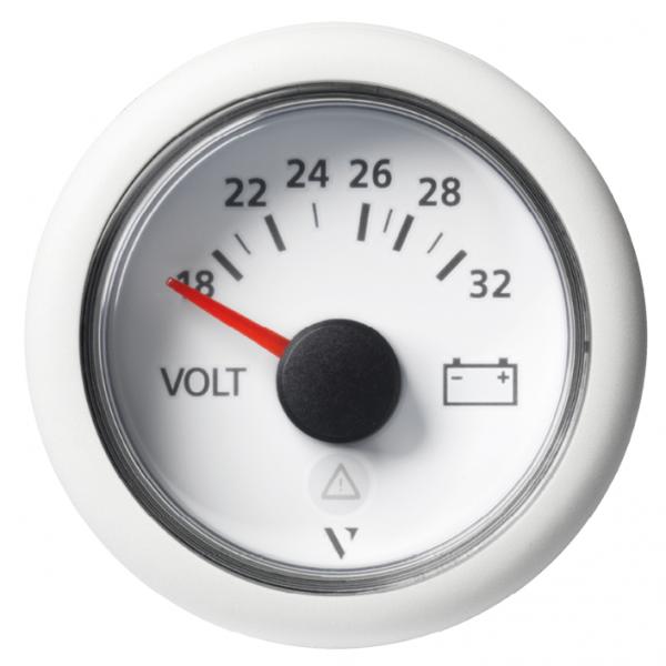 Voltmeter 18 - 32V (18 - 32 VDC) weiß