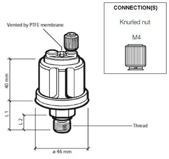 10 bar / 150 psi (M14 x 1,5) Einpolig, gemeinsame Masse