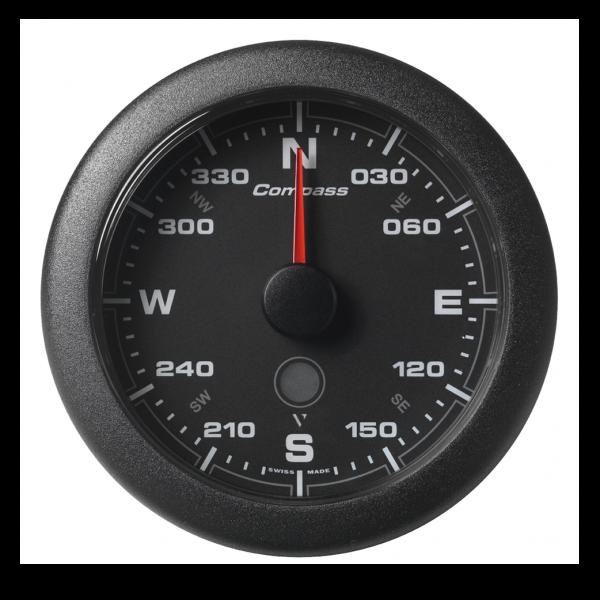 Kompass 360° schwarz