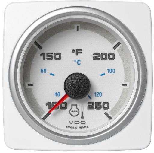 Kühlwassertemperatur 250°F / 120°C weiß