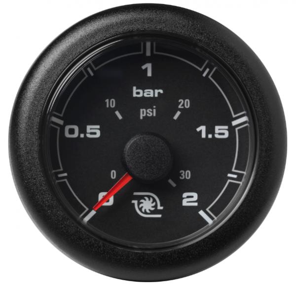 Ladedruck 2 bar / 30 psi schwarz
