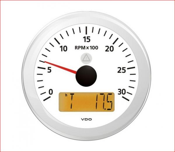 VDO ViewLine Drehzahlmesser weiss 3.000 RPM 85mm