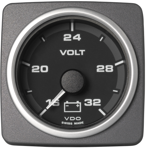 Voltmeter 16 -32 V schwarz