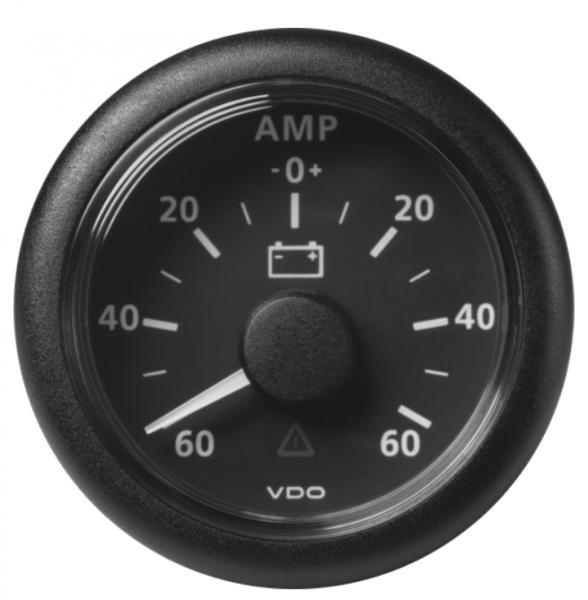 Amperemeter - 60 / + 60 A schwarz (60 mV)