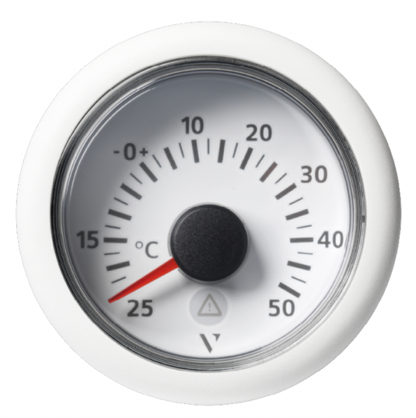 Außentemperatur +50°C/+120°F weiß (2 kΩ)