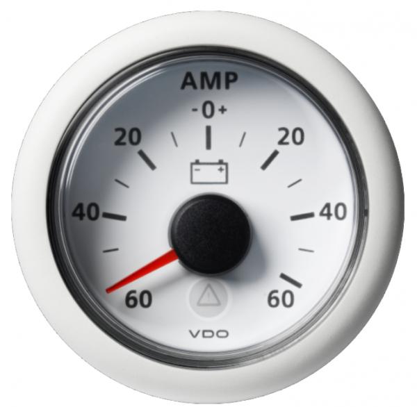 Amperemeter - 60 / + 60 A weiß (60 mV)