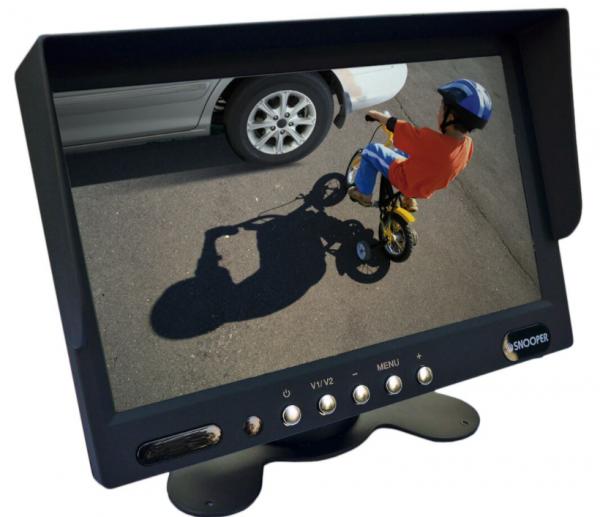 7 Zoll Monitor, 800x480 Pixel, 2 Kamera-Eingänge (analog bis 700TVL), 12-24V