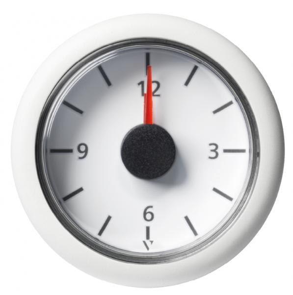 Uhr weiß (18 - 32V)
