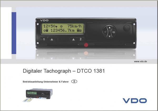Bedienungsanleitung DTCO 1381 Release 2.1/2.2