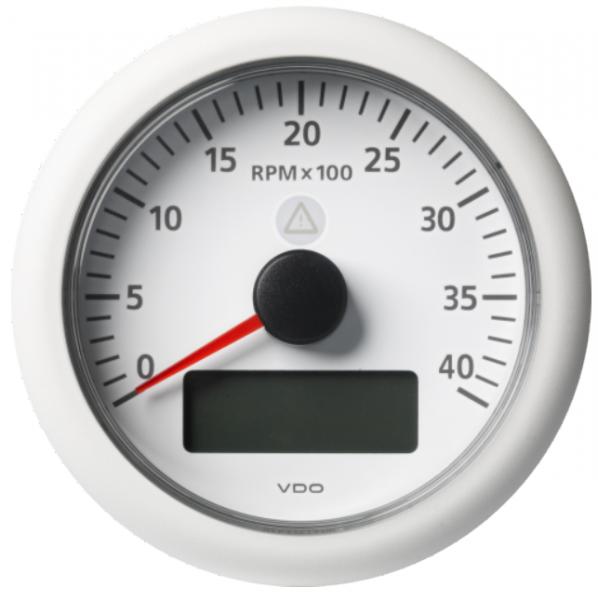 Drehzahlmesser mit LCD 4000 RPM weiß
