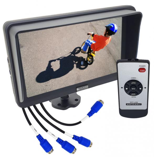 RAV-MO 7QHD, 7 Zoll Full-HD-Monitor, 1920x1080 Pixel, 4 Kamera-Eingänge (bis 1080p), Split-Funktion,