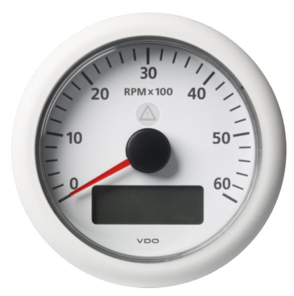 Drehzahlmesser mit LCD 6000 RPM weiß