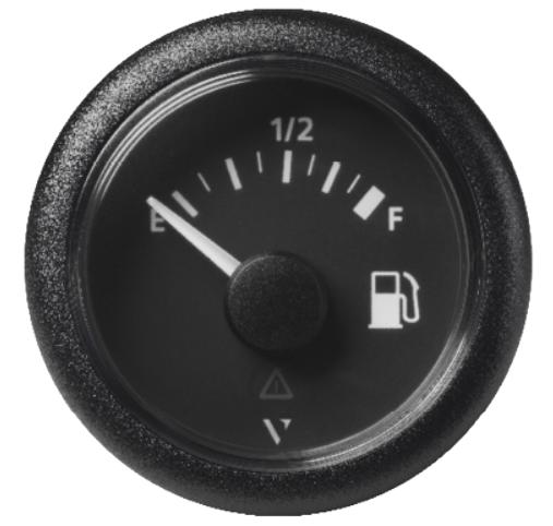 Kraftstoff leer – voll schwarz (90 - 4 Ω)