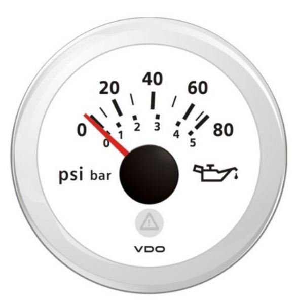 Motoröldruck 80 psi / 5 bar weiß (10 – 184 Ω)
