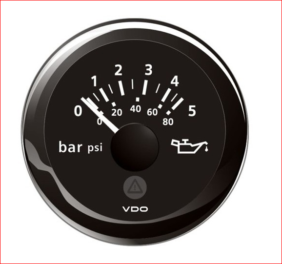 VDO ViewLine Motor Öldruck 5Bar Schwarz 52mm