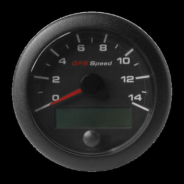 GPS-Geschwindigkeitsanzeige 0-14 Knoten / km/h / mph schwarz