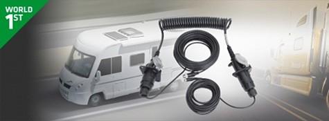 Anhängerkupplung für LKW inkl. 20m Kabel