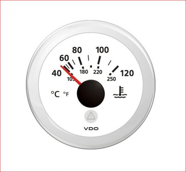 VDO ViewLine Kühlwassertemperatur 120°C Weiß 52mm