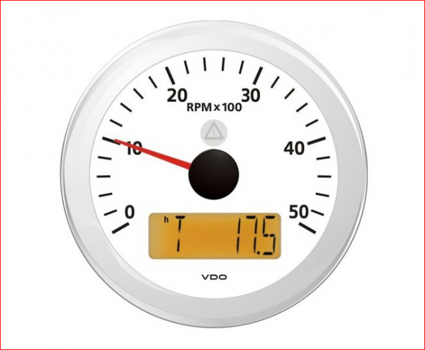 VDO ViewLine Drehzahlmesser 5.000 RPM Weiß 85mm
