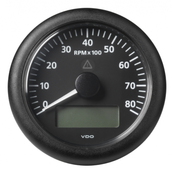 Drehzahlmesser mit LCD 8000 RPM schwarz
