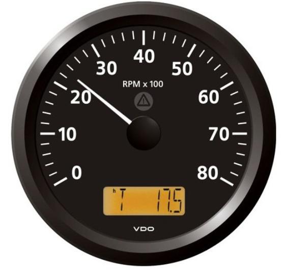 Drehzahlmesser 8000 RPM schwarz