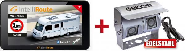 IntelliRoute CA8050DVR Navi + Doppel-Kamera 12V/24V für mobile Navigationssysteme