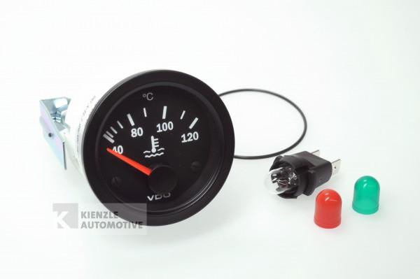 VDO Cockpit Vision 12 Volt Temperaturanzeiger Kühlwasser 120°, Ø 52 mm