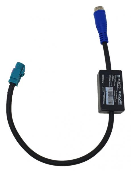 """Adapter zum Anschluss von allen CGS-Kameras ohne Shutter an serienmäßig vorgerüstete 7"""" Scania"""