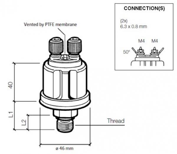 Ladedrucksensor 0-2 bar M12x1,5