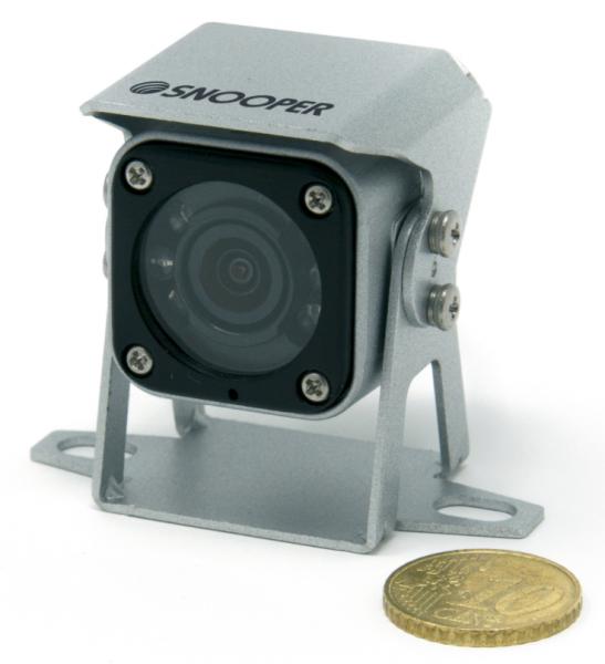 140° Mini-Rückfahrkamera kompakt silber 12V