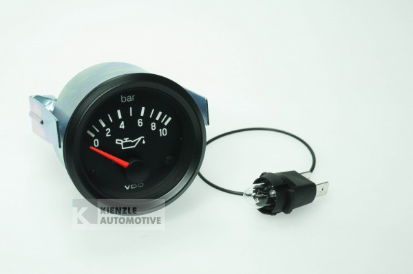 VDO Cockpit International Öldruckanzeiger Manometer 10 bar, 12 Volt, Ø 52 mm