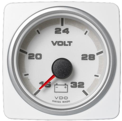 Voltmeter 16 -32 V weiß