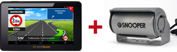 IntelliRoute CA6000DVR Navi + Shutter-Doppel-Kamera 12V/24V für mobile Navigationssysteme