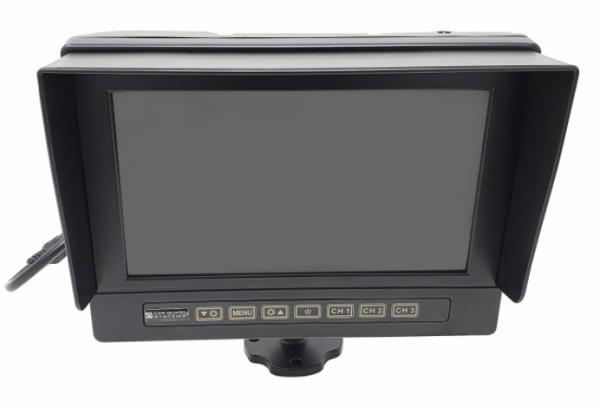 RAV-MO 7WHD, 7 Zoll AHD-Monitor, wasserdicht (IP68), 1024x600 Pixel, 3 Kamera-Eingänge (bis 1080p),