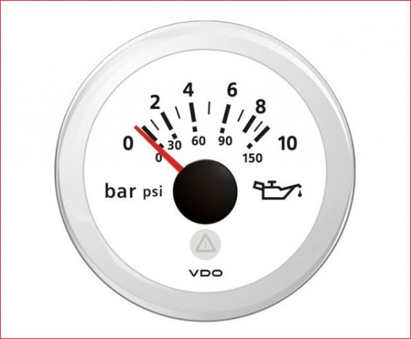VDO ViewLine Motor Öldruck 10Bar Weiß 52mm