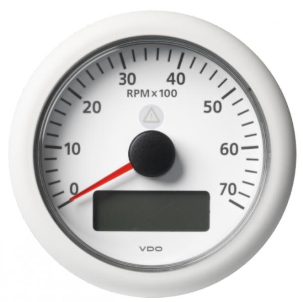 Drehzahlmesser mit LCD 7000 RPM weiß