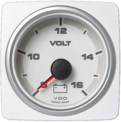 Voltmeter 8-16 V weiß