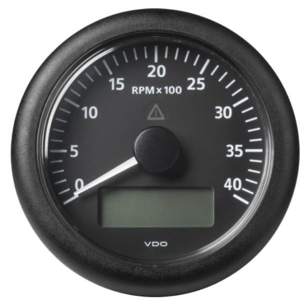 Drehzahlmesser mit LCD 4000 RPM schwarz