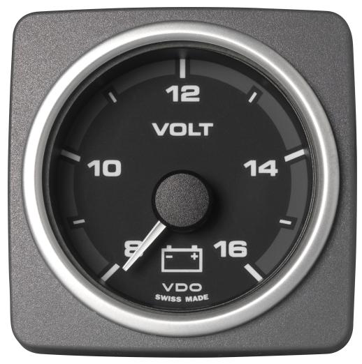 Voltmeter 8-16 V schwarz