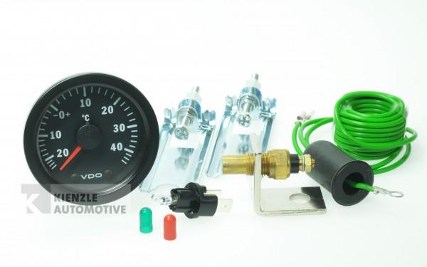 VDO Cockpit Vision 12 Volt Außentemperaturanlage inkl. Geber/Sensor,, Ø 52 mm
