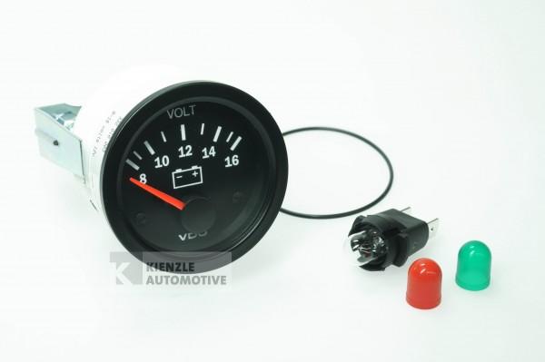 VDO Cockpit Vision Voltmeter 8-16 Volt, Ø 52 mm