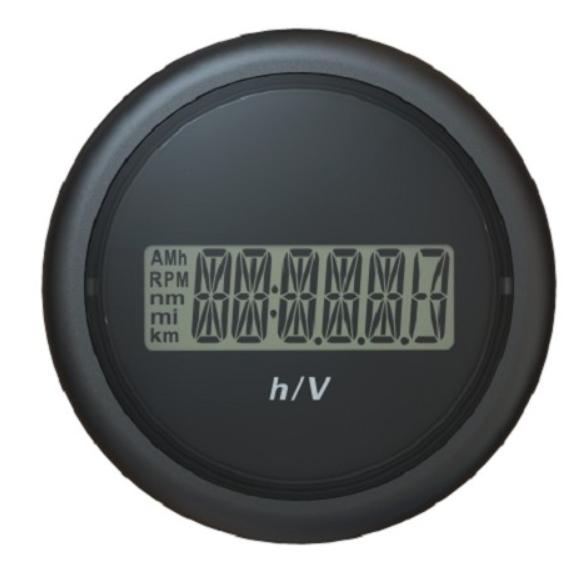 Betriebsstundenzähler / Voltmeter schwarz