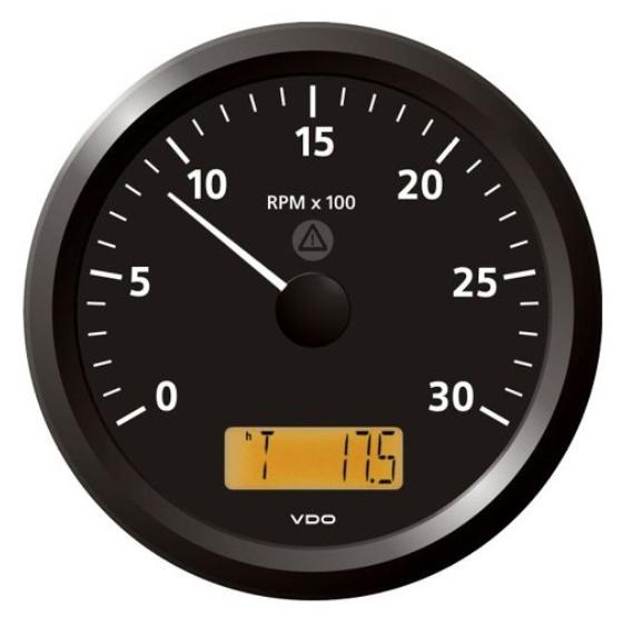 Drehzahlmesser 3000 RPM schwarz