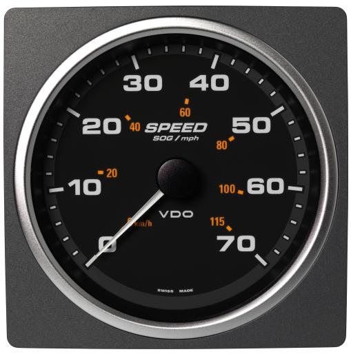 Geschwindigkeit über Grund (SOG) 70 mph / 55km/h schwarz