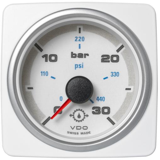 Getriebeöldruck 30 bar / 450 psi weiß