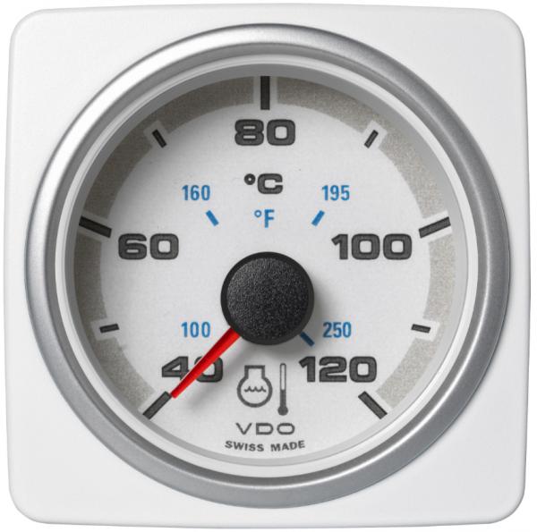 Kühlwassertemperatur 120 °C / 250 °F weiß