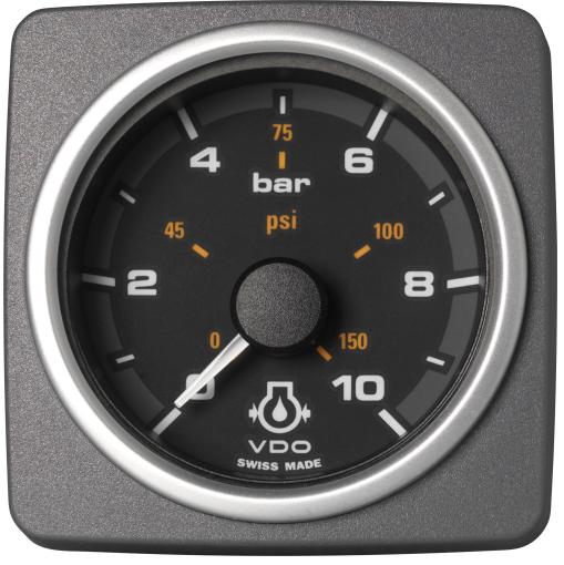 Motoröldruck 10 bar / 150 psi schwarz