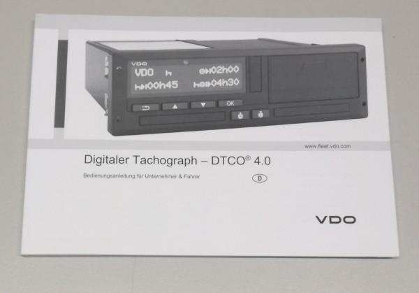 Bedienungsanleitung DTCO 1381 Release 4.0
