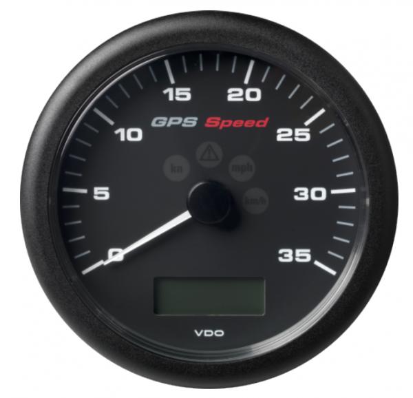 GPS-Geschwindigkeitsanzeige 0–35 Knoten/km/h/mph