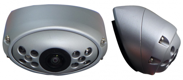 180° Weitwinkel Rückfahrkamera kompakt silber 24V